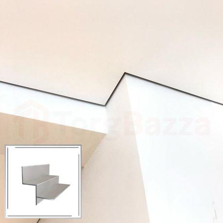 Теневой алюминиевый профиль с LED подсветкой 10 мм 15 м 20 мм
