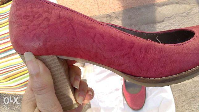sapatos rosa em pele Seaside
