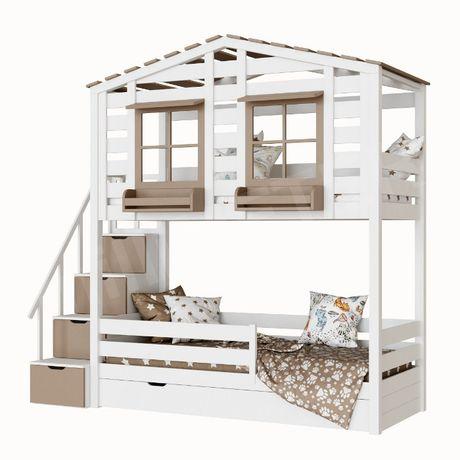 кровать двухъярусная Тифанни 2, кровать домик, двухярусная кровать