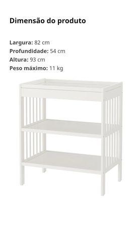 Móvel trocador bebé IKEA