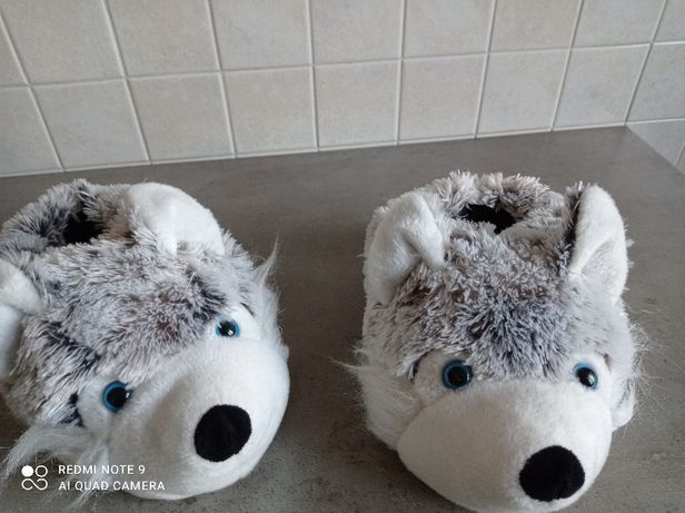 Papcie ocieplane - eskimoski, śmieszne myszki rozm. 36-37