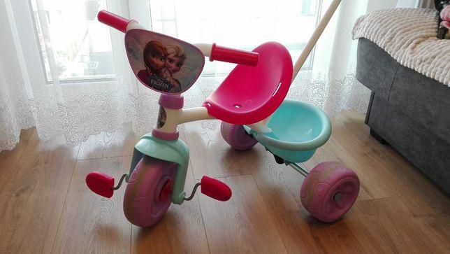 Rowerek Trójkołowy Smoby Disney Kraina Lodu dla dziewczynki - stan bdb