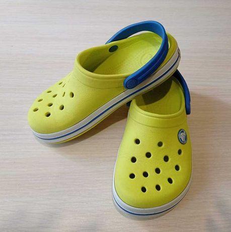 Кроксы детские желтые Crocs C10/C11 (27-28)