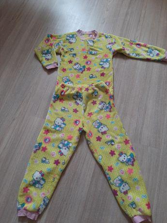 Теплая махровая пижама рост 134