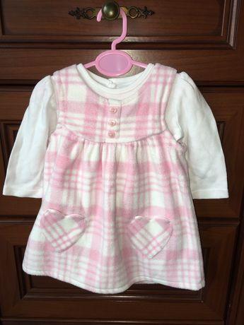 Комплект - Платье и бодик теплые для девочки