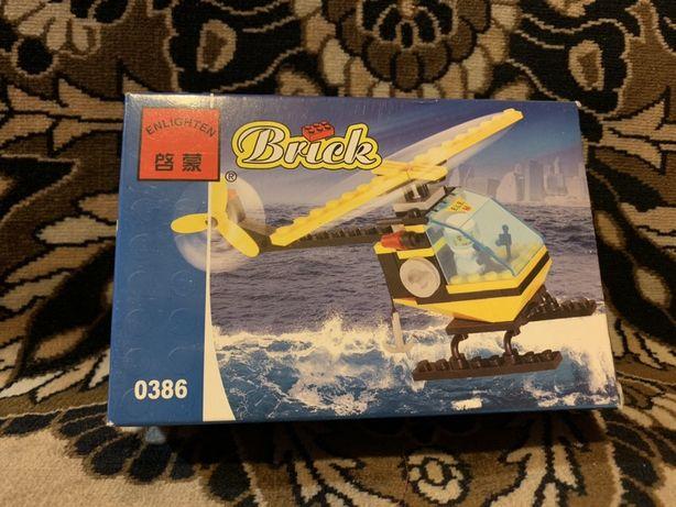 Лего конструктор марки Brick «Спасательный вертолёт»59 деталей+подарок