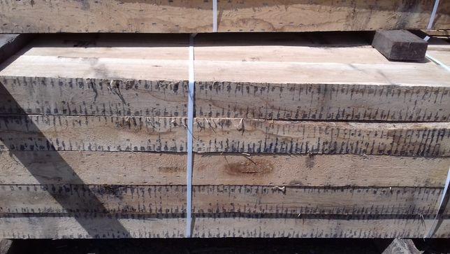 drewno kantówki dębowe 12x12x250 cm belki słupy podwaliny schody