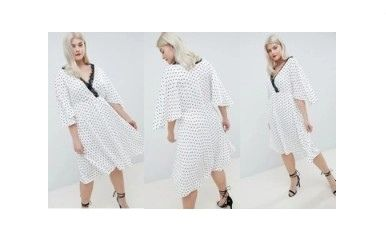 Sukienka MIDI w groszki r.50