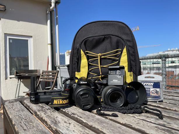 Maquina Fotografica Nikon D3000 + lentes + acessorios