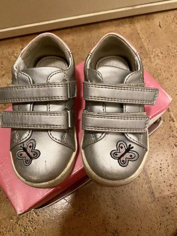 Детские серебряные кеды для девочки