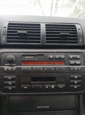 Radio i panel sterowania nawiewem klimatronic BMW e46