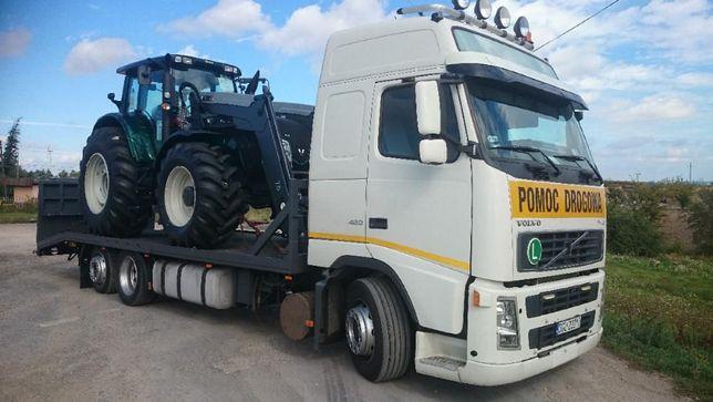 Transport do 15 ton -maszyn ciągników ładowarek, koparek wózków busów
