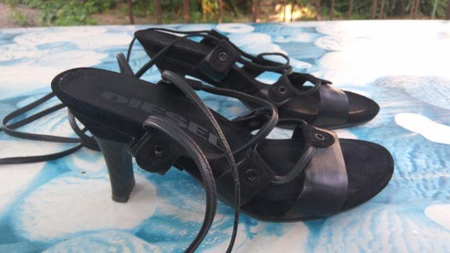 Diesel босоножки кожаные сандалии шнуровка гладиаторы шлепки