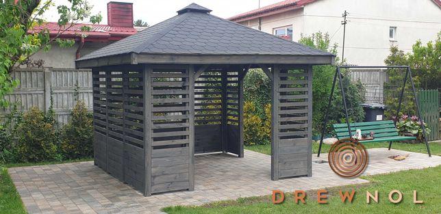 Altanki, altanka, altana ogrodowa, wiata drewniana, 3x3  3x4 Drewnol