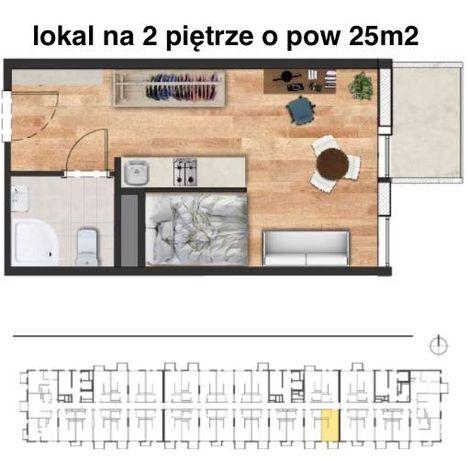 Ostatnia w tej cenie kawalerka z balkonem w centrum/Legnicka/Magnolia