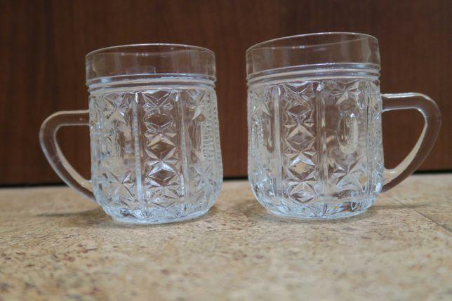 Прозрачные стеклянные чашки времен СССР