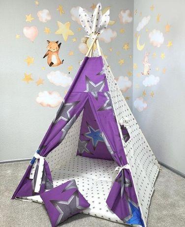 Детский вигвам палатка! Важно КОВРИК НАПОЛНЕН ХОЛЛОФАЙБЕРОМ!