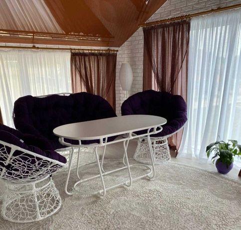 Комплект АКВАМАРИН, меблі з ротангу, диван, крісло, стіл, мебель