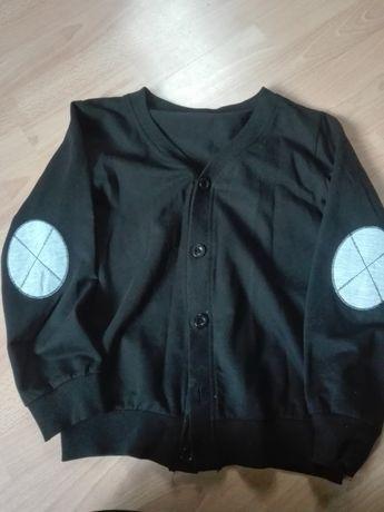 Sweter gladki 146 chlopak czarny modny