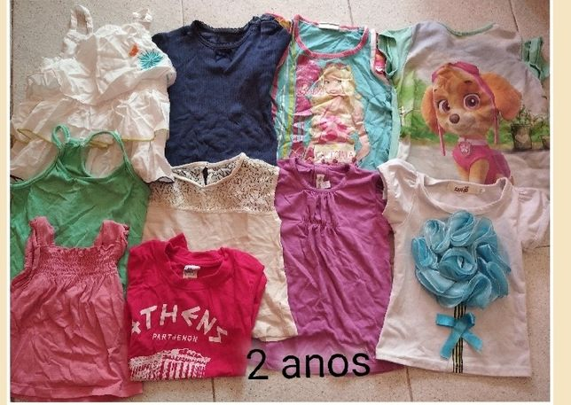 Lote t-shirts 2 Anos