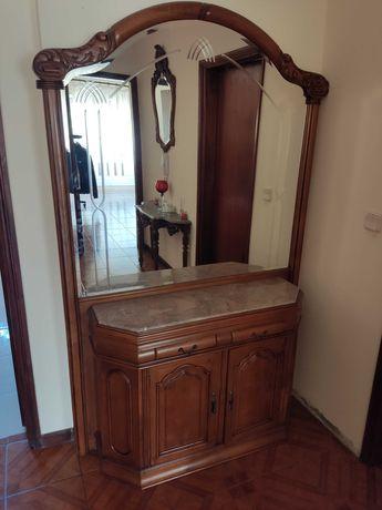 Movel moral de entrada antigo com espelho