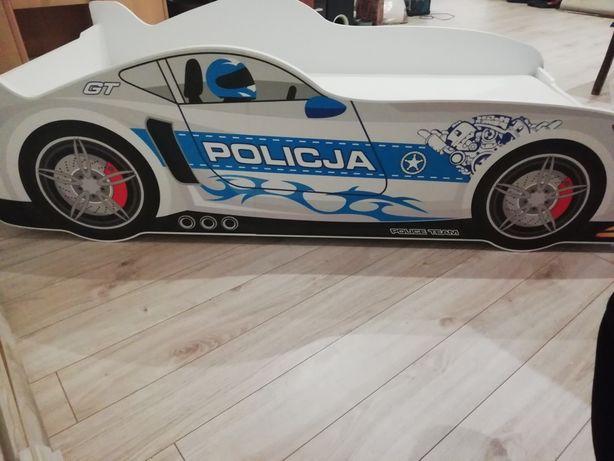 Łóżkeczko dziecięce dla chłopca policja