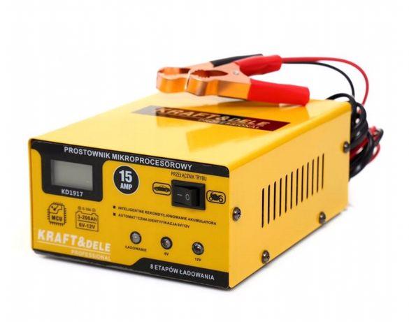 Ładowarka LCD Prostownik do akumulatora 6V 12V 15A samochodu DOWÓZ