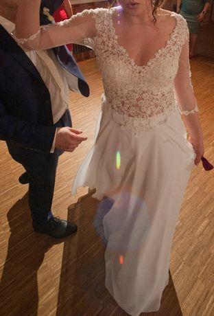 Sprzedam suknię ślubną w stylu boho, kolor ecru