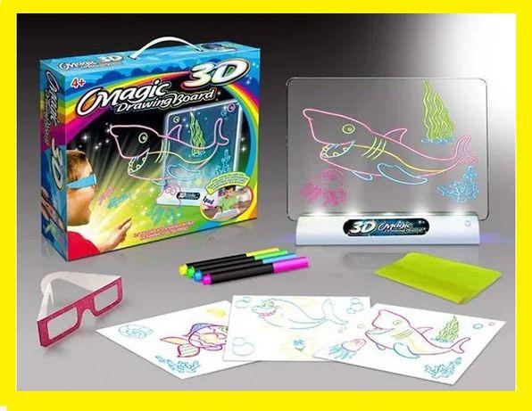 3D Планшет-доска для рисования 3D Magic Drawing Board магическая