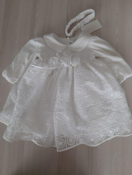 Piękna nowa sukienka chrzest wesele święta Heritage rozm. 86 na12- 18