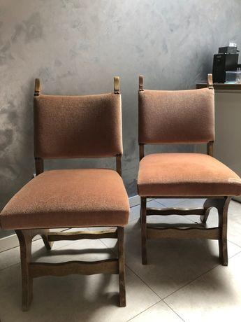 Krzesła tapicerowane dębowe 6 szt. Vintage Retro Ogród Taras