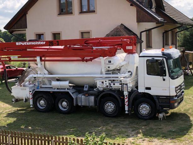Pompogruszka, Mercedes, putzmeister, pompa do betonu, betonomieszarka