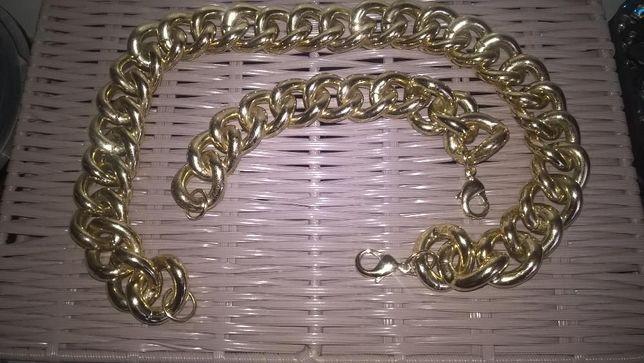 Komplet biżuterii łańcuszek i bransoletka zamienie sprzedam
