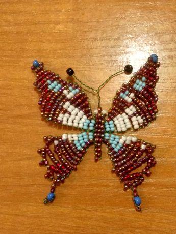 Метелик з чеського бісеру ручна робота
