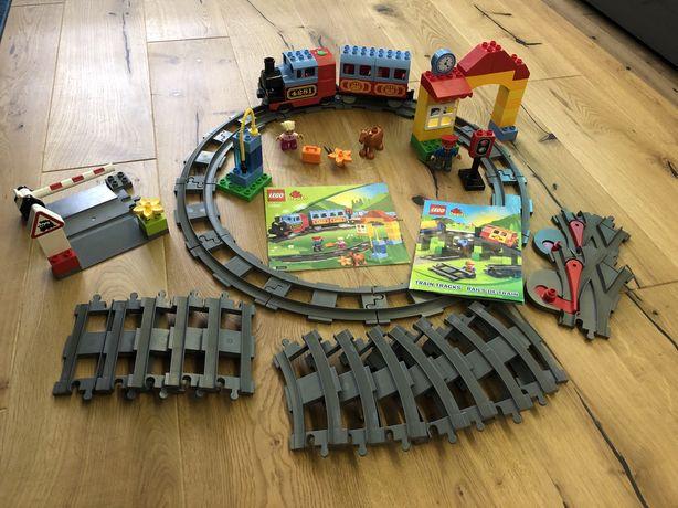 Duży zestaw Lego Duplo pociag 10506 wraz z dodatkowymi torami 10507