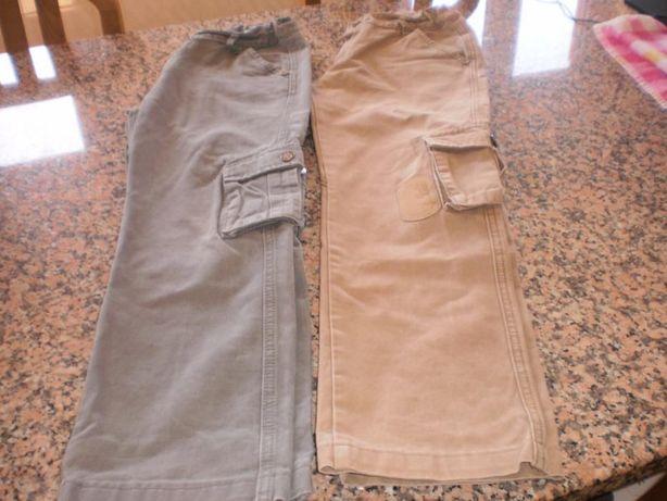 2 calças de menino em sarja para 12 anos