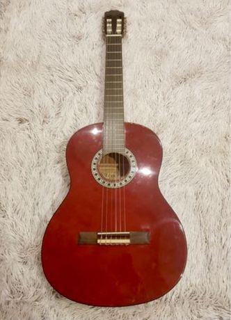 Gitara alvera z pokrowcem canto i kostkami do gry