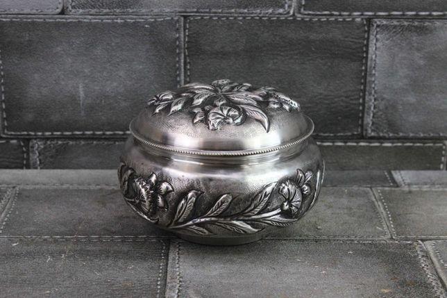 Cukiernica puzderko srebrna pr 925 waga 203.06 g