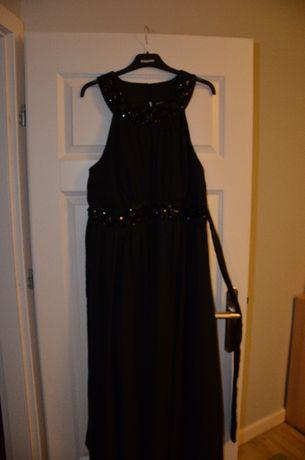 Długa suknia wieczorowa, balowa, sylwestrowa rozm. 46 xxl