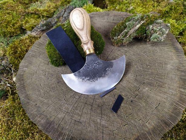 Нож для кожи. Нож косяк. Нож для шерфования. Нож для пиццы кованый