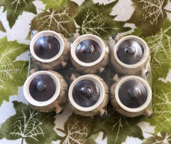 Новые запакованные глиняные горшки для готовки посуда комплект
