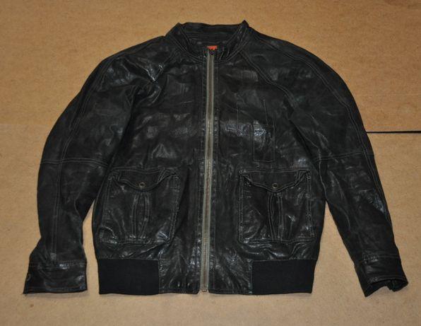 Hugo boss кожанная куртка хуго босс