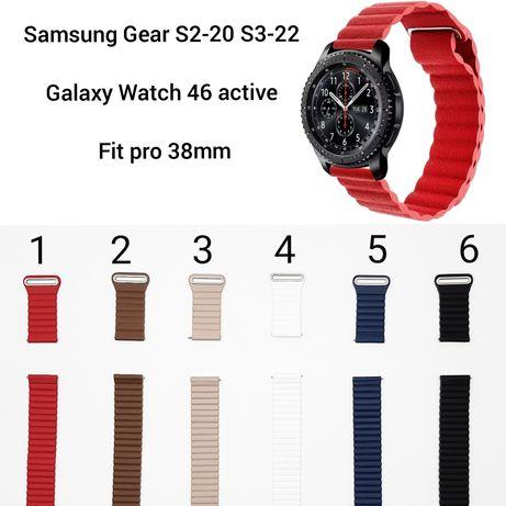 Ремешок Samsung Gear S2 20 S3 22 Galaxy Watch 46 42 active Fit pro 2