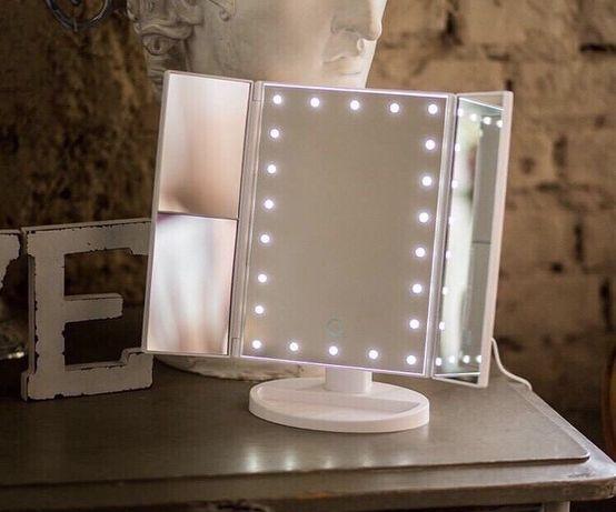 Зеркало тройное для макияжа MAGIC MAKEUP MIRROR с LED 22 лампы