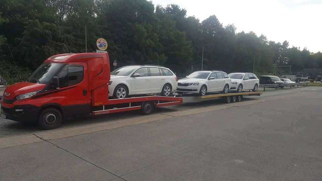 Transport samochodów aut Laweta EU - Polska