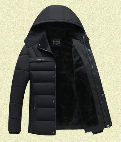 Мужская зимняя куртка на меху Gyfs, очень тёплая! 3 цв. Размер 46-54