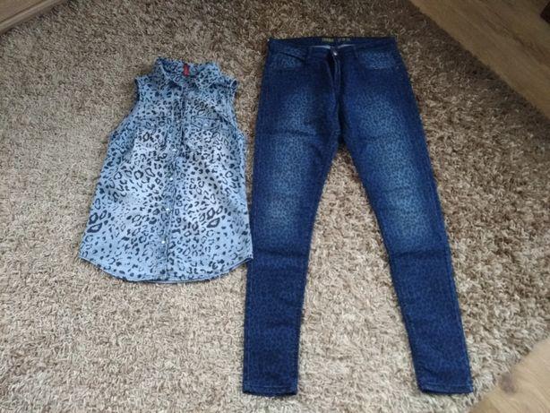 Komplet panterka jeans polecam