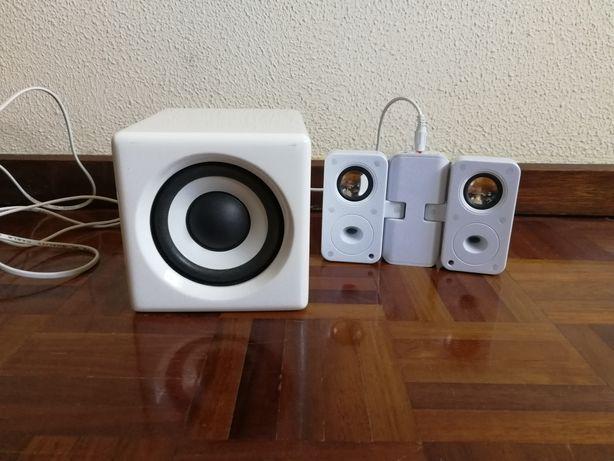 Colunas e Woofer p/ iPhone + iPod