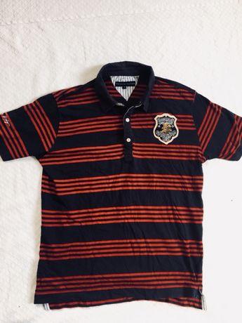 Tommy Hilfiger koszulka polo rozm M paski modna !!