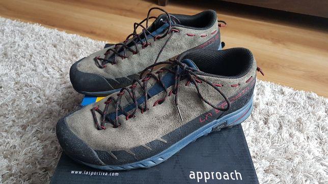 Buty podejściowe La Sportiva TX2 Leather - carbon/opal  ROZMIAR 41 1/2